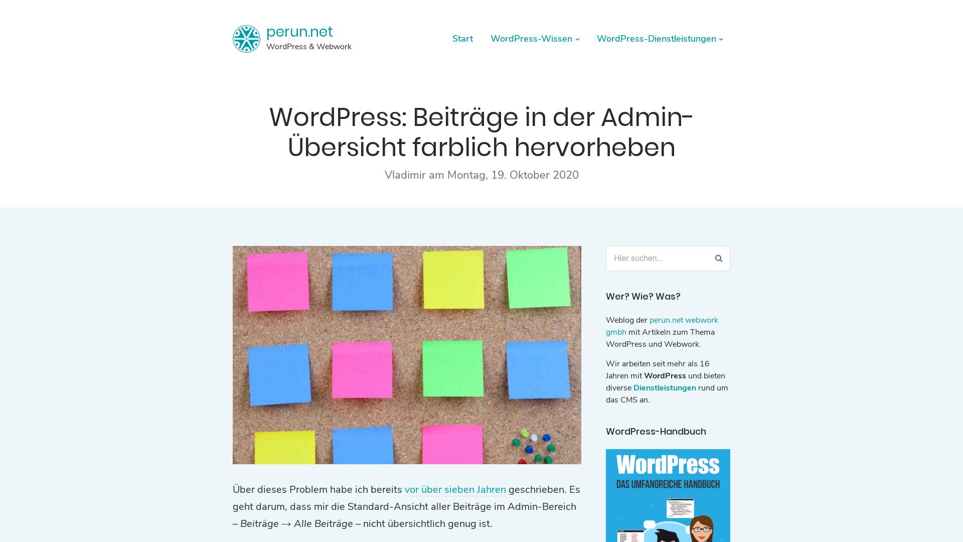 https://www.perun.net/2020/10/19/wordpress-beitraege-in-der-admin-uebersicht-farblich-hervorheben/
